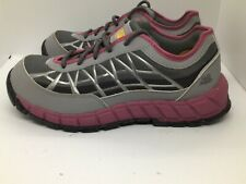 Caterpillar CAT Connexion Women US 8 Gray Pink Steel Toe Safety Toe Work Shoes