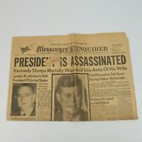 LOT of 4 1963 NEWSPAPERS JOHN F KENNEDY ASSASSINATED LEE HARVEY OSWALD KILLED