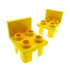 2 x Lego Duplo Stuhl gelb 4 Noppe Sitz Stühle Küche Zimmer Puppenhaus Möbel 6478