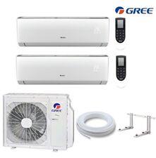 GREE Lomo MultiSplit 2 Räum 2,6+3,5kW Klimaanlage Inverter WiFi R32 Außen 4,1KW