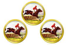 Horse Racing over Hurdles Golf Ball Markers