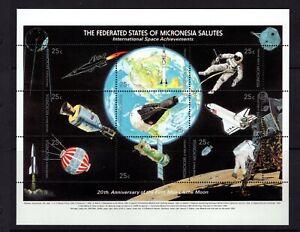 Micronesia  #81 (1989 Apollo 11 sheet of nine) VFMNH CV $5.25