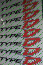 Honda Civic Type D  diesel EP4 Fn3 Red x 2 Side Panel skirt Stickers Decal