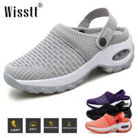 Women Air Cushion Sneakers Breathable Mesh Walking Slip-On Running Shoes Sandals