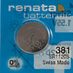 1 x Renata 381 Watch Batteries, SR1120SW Battery   Shipped from Canada