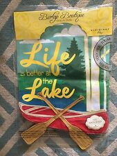 New Evergreen Garden Flag Double Sided Emboidered Appliqué Life At Lake Canoe