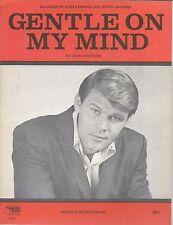 GLEN CAMPBELL 1967 Sheet Music GENTLE ON MY MIND Dean Martin Aretha Patti Page