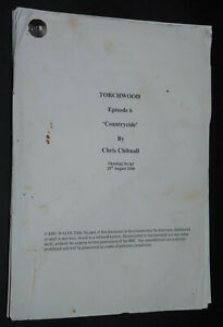Original TORCHWOOD used Script S1E06 genuine Dr Who Doctor Who John Barrowman TV