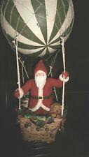 VINTAGE CHRISTMAS BETHANY LOWE LARGE SANTA IN HOT AIR BALLOON
