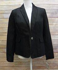 Kasper Womens Jacket Single Button Denim Jacket Sports Coat Dark Denim Size 4