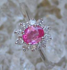 Princess 💕 Brillant Ring aus 585 Gold mit Rubin Rubine Weißgold Rubinen diamond
