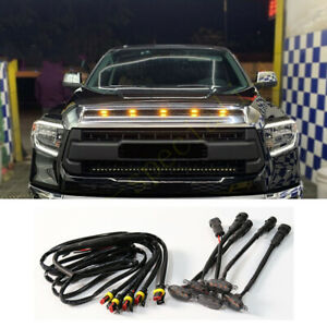 5pcs For Toyota Tundra 2008-2020 Front Grille LED Light Raptor Style Grill Trim
