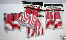 6 pk Drinkmate Mini Red Cups 120pc Disposable Plastic Shot Glasses Party Drink