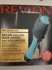 Revlon One-Step Hair Dryer & Volumizer Hot Air Brush blue open box