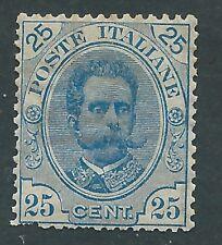 """1891-96 Regno d'Italia """"25 cent EFFIGIE UMBERTO I"""" MNH NUOVO LUSSO**"""