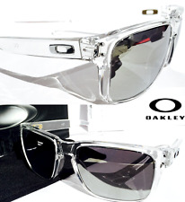NEW* Oakley HOLBROOK CLEAR w POLARIZED CHROME Iridium Lens Sunglass 9102-94