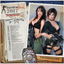 Tactical Girls 2017 Gun Calendar Soldier Sailor Marine LEO Shooter Airsoft gift