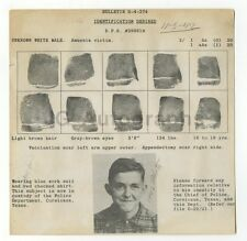 Wanted Notice - Unknown Amnesia Victim - Corsicana, Texas - 1944