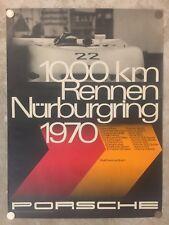 1970 Porsche 908-3 Nurburgring Victory Showroom Advertising Sales Poster RARE