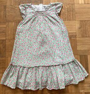 Mini Boden Kleid Gr. 7-8 Y.(ca.128), weiß mit Apfelmuster, gefüttert, top!
