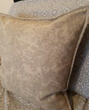 """16x16"""" French  Vintage Linen Pettie Toile grey roses on beige cushion cover"""