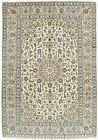 Vintage Persìan Kashàn 8'x12' Ivory Wool Hand-Knotted Oriental Rug
