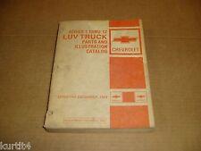 Series 1-12 1973 1974 1975 1975 1979 1980 Chevy LUV pickup parts catalog manual