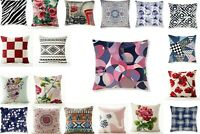 Colorful Print Cushion Cover 100% polyester Home Office Sofa Decor Size 18x18""