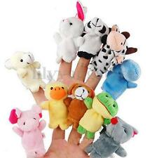 10/12X Family Finger Puppets Cloth Doll Baby Educational Hand Cartoon Animal Toy