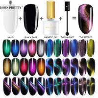 BORN PRETTY Magnetic UV Gel Nail Polish Cat Eye Gel Nails Black Based Needed DIY