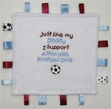 FOOTBALL TAGGY COMFORT BABY BLANKET 'Any Team' Embroidered in Any Team Colours!