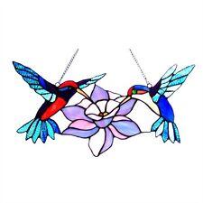 Chloe Lighting Tiffany Style Hummingbirds Glass Window Panel CH1P736BA18-GPN