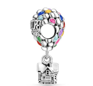NEW PANDORA ALE S925 SILVER Disney UP House & Balloons Dangle Charm + GIFT BAG