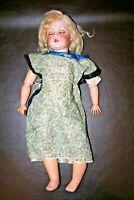 "Antique 1916 Creepy 25"" Tall C.M. Bergmann Bisque Head Blue Eyed Baby Doll"