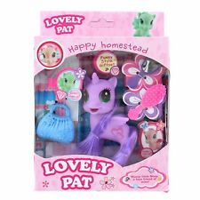 Little Unicorn Pony Action Figures Toy Play Set- Purple