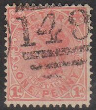 (STA256) 1901 VIC 1d red QVIC cancel 149