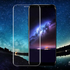 For Samsung Galaxy S8 Full Tempered Glass 3D Curved Clear Film Screen Protector