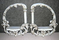 "Pair Of Vintage Shabby Chic French Wall Shelves - 19 3/4"" by 16"""