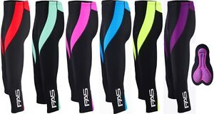 ProAthletica Women's Padded 3/4 Tights For Cycling Yoga Gym & Fitness Exercise