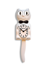 NEW WHITE GENTLEMAN WITH BLACK BOW TIE KIT-CAT KLOCK PENDULUM LIMITED EDITION
