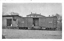 S.R. & S.R. Narrow Gauge Railroad Box Car #125 RPPC Postcard