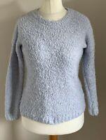 Atmosphere Size 8 Ladies Long Sleeve Blue Fluffy Jumper Top