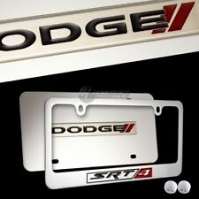 DODGE SRT-4 Stainless Steel License Plate Frame 3D with caps - 2PCS FRONT & BACK