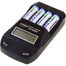 Powery Ladegerät für NiCd / NiMH- AA/AAA Akkus inkl. 4x AA 2700mAh Panasonic Akk