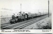 Pamlin repro photo postcard M3518 LMS 2-6-4T 2377 near Tring Hertfordshire 1934