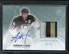 2011-12 SP Authentic JORDAN STAAL Limited Autographed Patch Variations #19/25