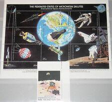 MICRONESIA MIKRONESIEN 1989 Klb 132-41 MS 81 82 20Ann 1st Moon Landing Space MNH