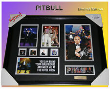 FREE POSTAGE! PITBULL MUSIC MEMORABILIA SIGNED FRAMED LIMITED EDITION