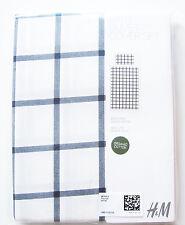 Baby Bettwäsche H&M 100% Baumwolle bio NEU OVP 110x125cm 35x55cm Set weiß blau