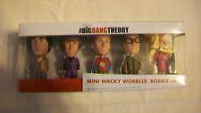 The Big Bang Theory Mini Wacky Wobbler Bobbleheads Set of 5 Funko